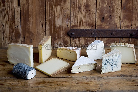different types of cheese on a