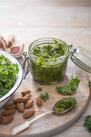 homemade kale and almond pesto with