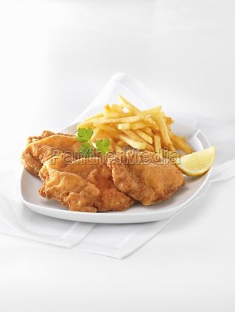 schnitzel with fries
