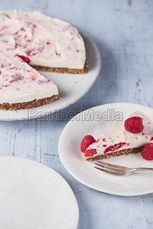 raw lemon lime and raspberry cheesecake