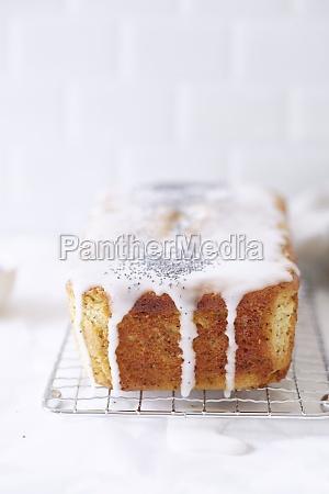 moist poppyseed and lemon cake on