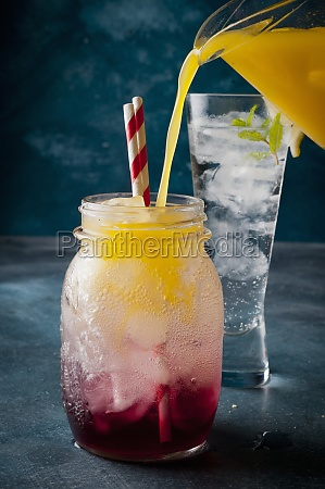 mocktail with orange and cranberry juice