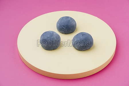 delicious dessert with grey icing