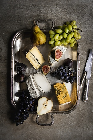 cheese selection with fruits