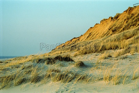 red cliff on sylt