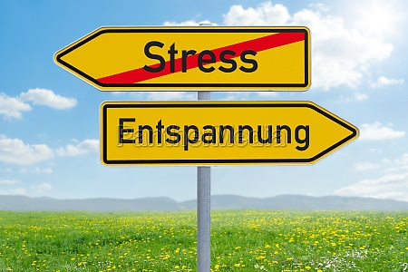 two direction signs stress or