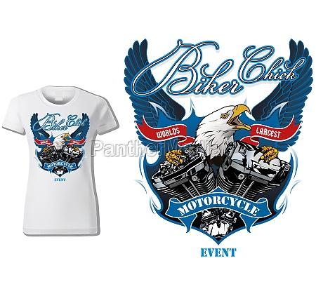 t shirt design for biker chick