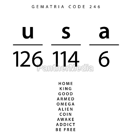 usa word code in the english