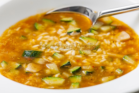 still ife of zucchini soup with
