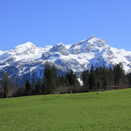 snow covered mountain range in the