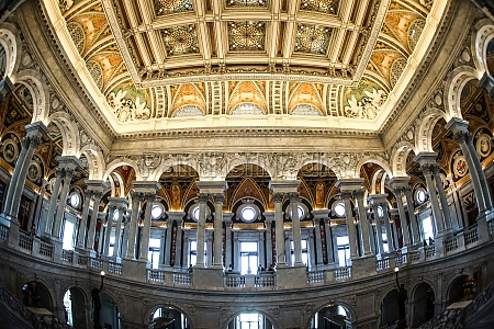 united states capitol ceiling painting of