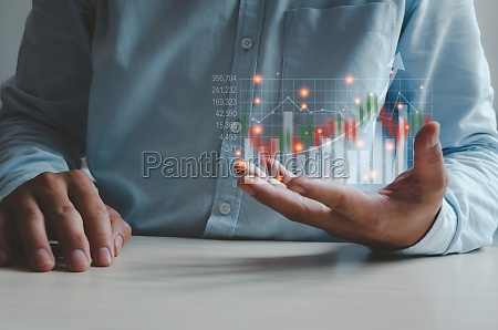 business finance and technology investment concepts