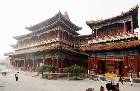 lama temple on village street