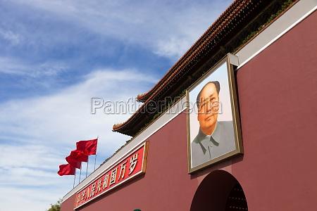 portrait of chairman mao in tiananman