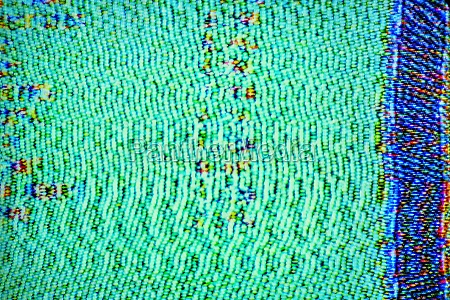 close up of television static