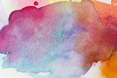 close up of watercolor colorful abstract