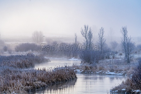 united states idaho bellevue frosty river