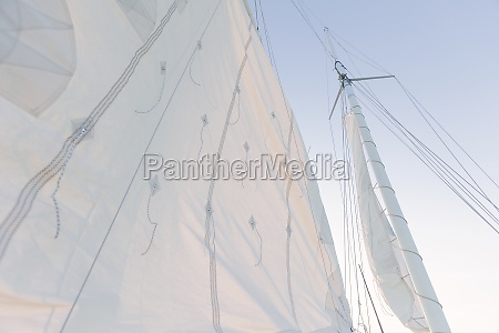 low angle view of sailing mast