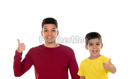 portrait of african american father with