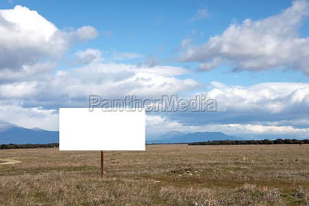 blank cartel for advertising in the