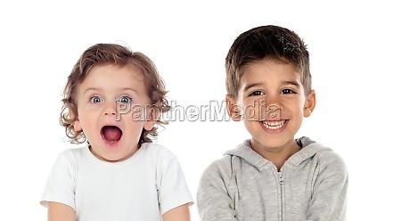 funny astonished children