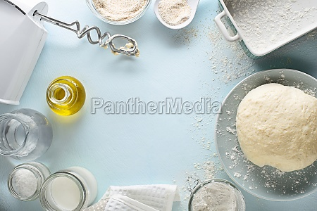 making baking bread