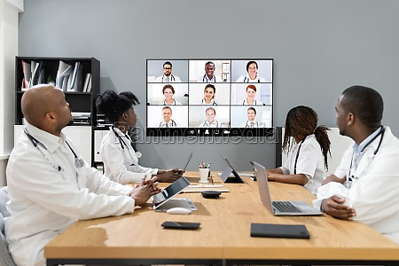 doctor in online medical video conference