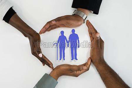 elderly senior african american people insurance