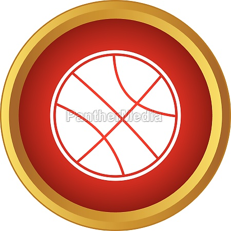 professional basketball icon simple style