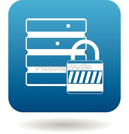 data protection icon simple style