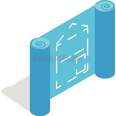 architectural project icon isometric 3d style