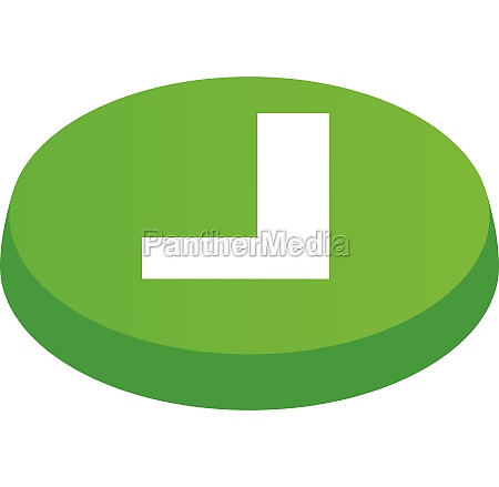 confirmation button icon isometric 3d style