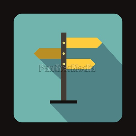 direction signs icon in flat style