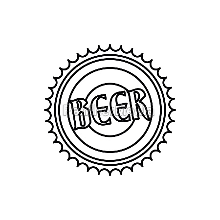 beer bottle cap icon outline style