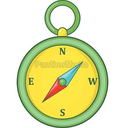 compass icon cartoon style
