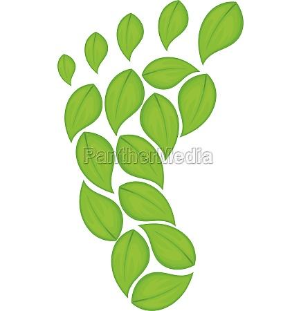 eco footprint icon cartoon style