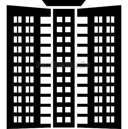 office building icon simple style
