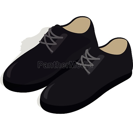 black male shoes con isometric 3d