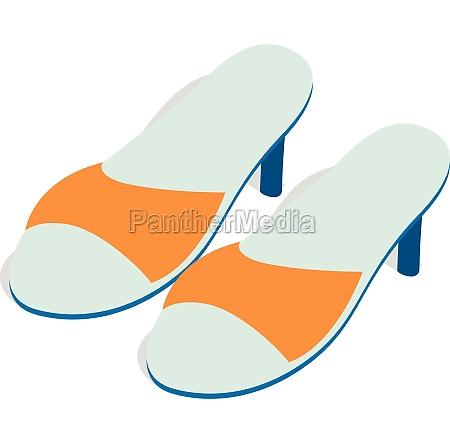 yellow ladys high heel shoes icon