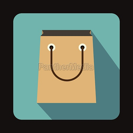 paper bag icon flat style