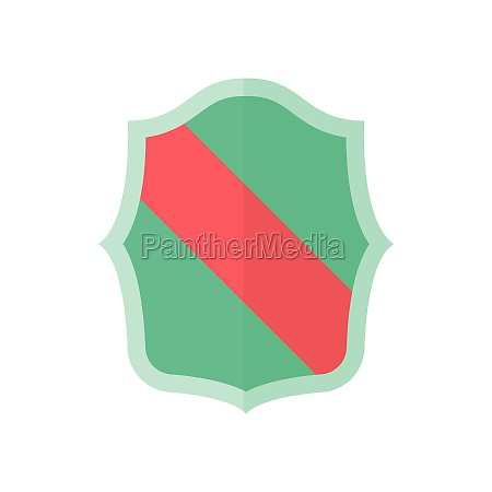 green shield with red stripe icon