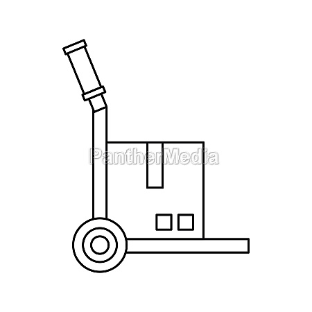 truck with cargo icon outline style