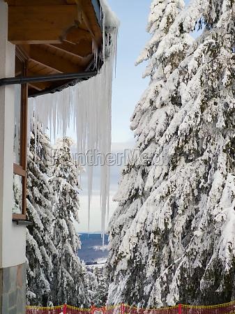 winter wonderland at wasserkuppe in rhoen