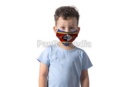 respirator with flag of esvatini white