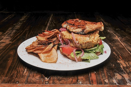 delicious american beyond burger on