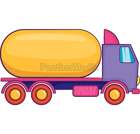 truck carries petrol icon cartoon style