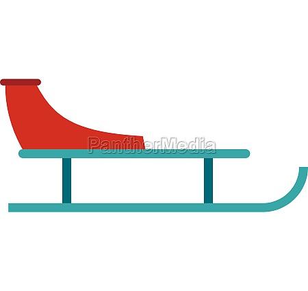 sleigh icon flat style