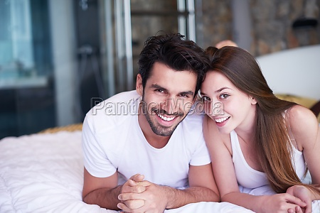 couple relax and have fun in