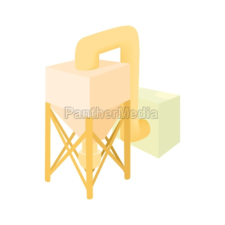 processing chemicals icon cartoon style