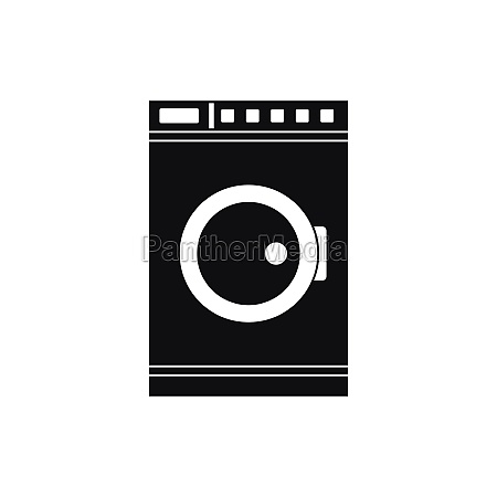 washing machine icon simple style
